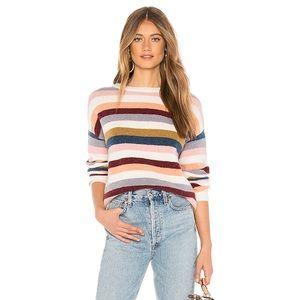 Rails Tira Rainbow Colorblock Stripe Wool Sweater